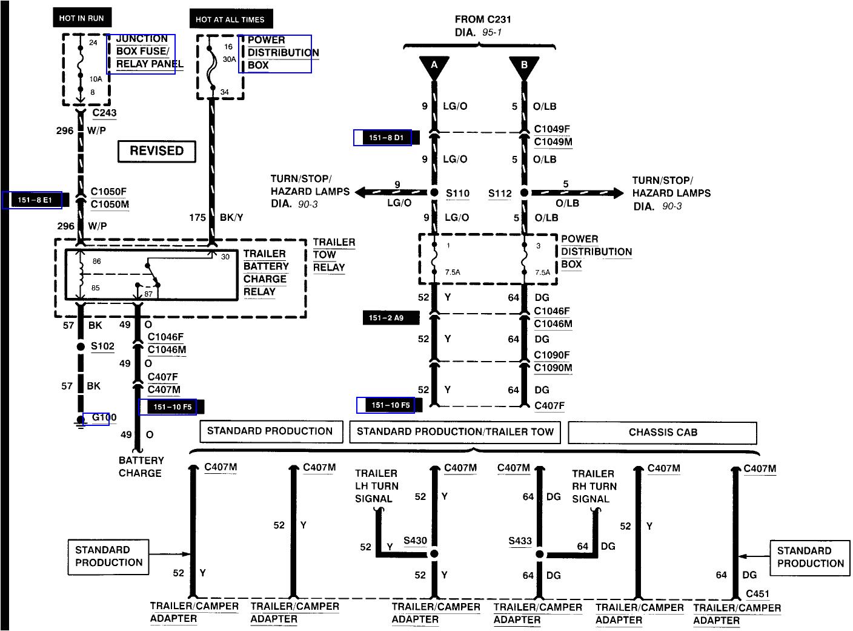 1999 ford f250 super duty trailer wiring diagram