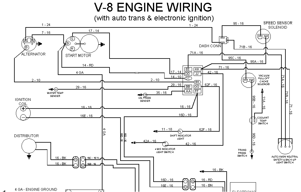 starter wiring schematic international