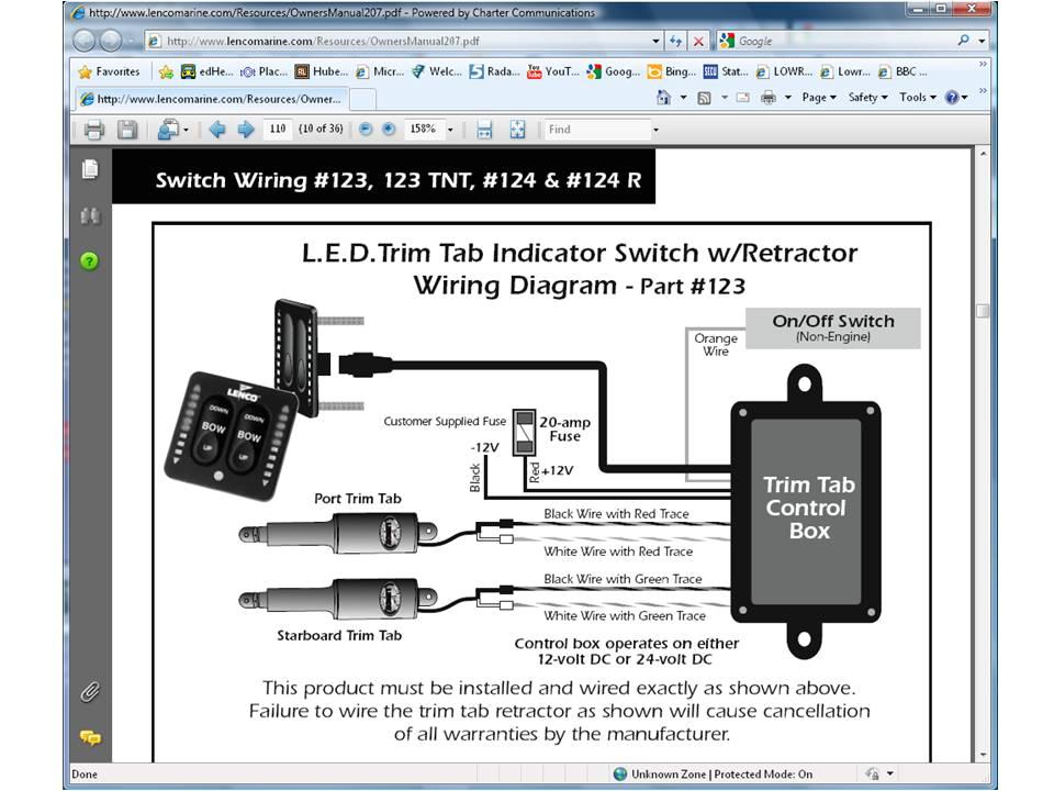 Lenco Electric Trim Tabs Wiring Diagram Lenco Trim Tab Switch Wiring Diagram Wiring Diagram Schemas