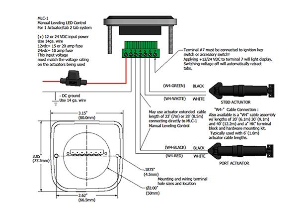 lenco trim tabs wiring