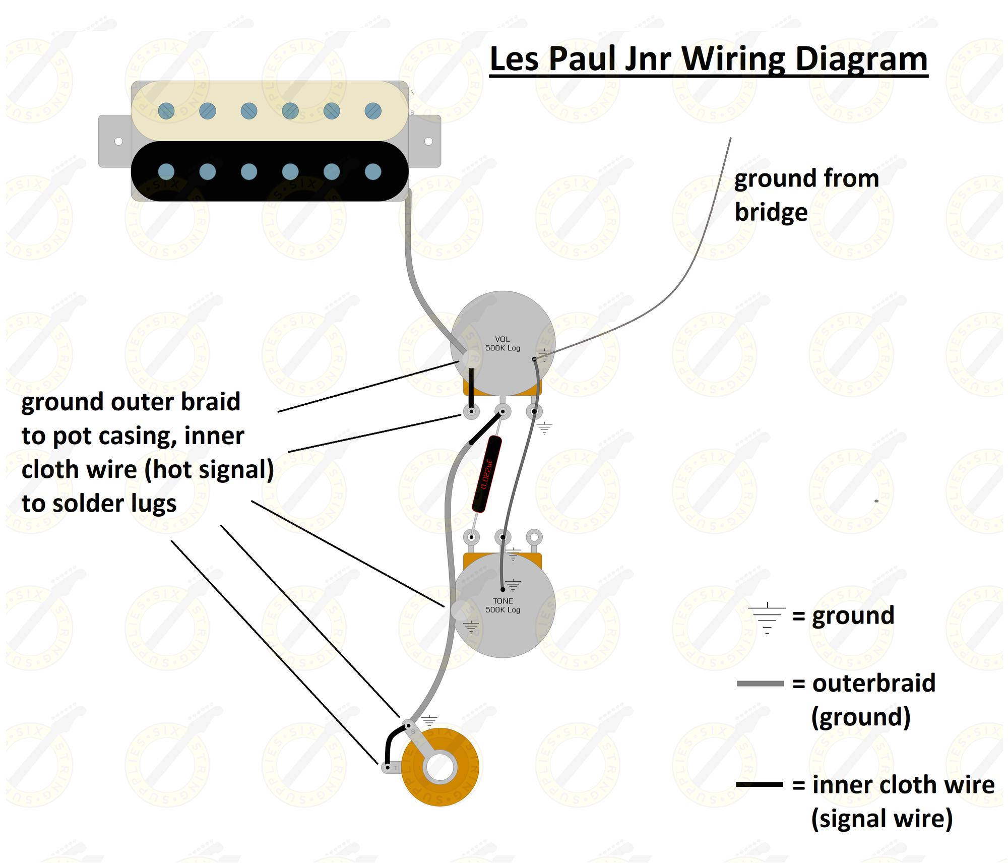 Les Paul Jr Wiring Diagram Image Of Les Paul Junior Wiring Kit