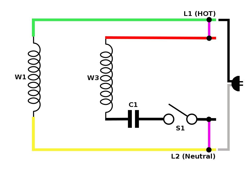 wiring diagram of single phase motor