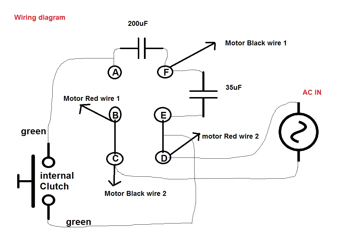 speedaire compressor start capacitor wiring diagram for and run