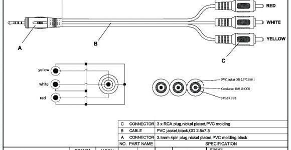 1 4 Stereo Jack Wiring Diagram Mono Plug to Rca Audio Jack Wiring Wiring Diagram Expert