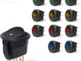 12 Volt 3 Prong toggle Switch Wiring Diagram Nilight 90013l 12pcs Round toggle Led Switch 12v Car Truck Rocker On Off Control Blue Green Yellow Red 2 Years Warranty