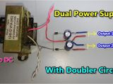120 Volt to 24 Volt Transformer Wiring Diagram Dc Dual Power Supply with Voltage Doubler Circuit Ac to Dc