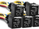 12v 40a Relay 4 Pin Wiring Diagram Nilight 50003r Automotive Set 5 Pin 30 40a 12v Spdt with Interlocking Relay socket and Wiring Harness 5 Packi 2 Years Warranty