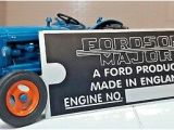 1958 fordson Dexta Wiring Diagram ford fordson Major Tractor Engine Id Identification Metal Chassis Plate Ebay