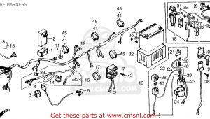1986 Honda Trx 70 Wiring Diagram Cl 0310 Honda Carburetor Parts Diagram Wiring Harness