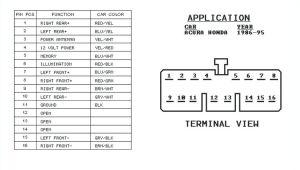 1995 Honda Civic Radio Wiring Diagram 1995 Honda Seat Wiring Auto Diagram Database
