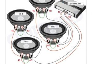 2 Ohm Sub Wiring Diagram Subwoofer Wiring Diagrams Subs Car Audio Car Audio Installation