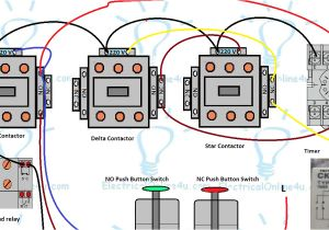 2 Pole Contactor Wiring Diagram Star Delta Starter Control Circuit Diagram with Timer