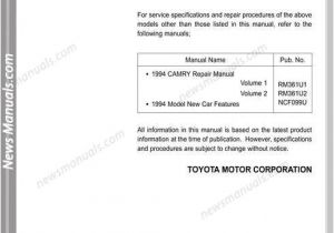2000 toyota Camry Wiring Diagram toyota Camry 94 Wiring Diagrams