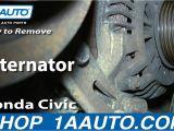 2001 Honda Civic Alternator Wiring Diagram How to Replace Alternator 01 05 Honda Civic Youtube
