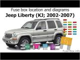 2002 Jeep Liberty Tail Light Wiring Diagram Fuse Box Location and Diagrams Jeep Liberty Kj 2002 2007