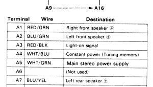 2003 Honda Accord Speaker Wire Diagram 88 Honda Radio Wiring Diagram Wiring Diagram