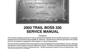 2003 Polaris Trail Boss 330 Wiring Diagram 2003 Polaris Trailboss 330 atv Service Repair Manual by