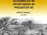 2004 Polaris Predator 90 Wiring Diagram 2003 Polaris Scrambler 50 90 Sportsman 90 Predator 90 Service Manual