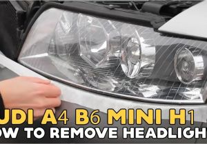 2006 Audi A4 Led Headlights Audi A4 B6 How to Remove Headlight Explained to Change Bulbs Youtube