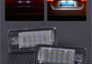 2006 Audi A4 Led Headlights Citall 2x Error Free 18 Led License Plate Lights Lamp 68e0807430a