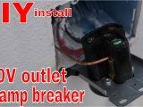220 Dryer Outlet Wiring Diagram Diy 240 Volt Outlet 50 Amp Breaker In My Home Workshop Easiest Install Ever