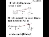 24 Volt Wiring Diagram for Trolling Motor How to Connect 12v 24v Trolling Motor with 1 and 2 Batteries Youtube