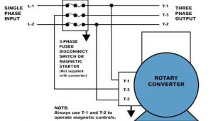 3 Phase Converter Wiring Diagram How to Properly Operate A Three Phase Motor Using Single Phase Power