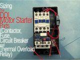 3 Phase Motor Starter Wiring Diagram Pdf Sizing the Dol Motor Starter Parts Contactor Fuse Circuit Breaker