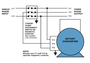 3 Phase Motor Wiring Diagram 9 Wire How to Properly Operate A Three Phase Motor Using Single Phase Power