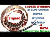 3 Speed Motor Wiring Diagram 3 Speed Cooler Motor Rewinding Winding 24 Slot with Data and Digram