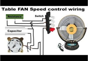 3 Speed Table Fan Motor Wiring Diagram Table Fan Speed Control Wiring Youtube