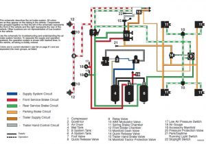 3 Wire Brake Light Diagram Tractor Trailer Air Brake System Diagram with Images
