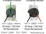 30 Amp 3 Prong Plug Wiring Diagram Mis Wiring A 120 Volt Rv Outlet with 240 Volts No Shock Zone