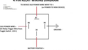 4 Pin Relay Wiring Diagram Basic Diagram Of Relay Wiring Diagram Description