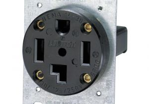 4 Prong Dryer Outlet Wiring Diagram Leviton 30 Amp Industrial Flush Mount Shallow Single Outlet Black