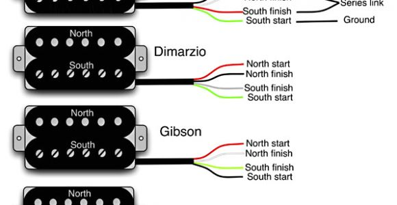4 Wire Humbucker Wiring Diagram Guitar Wiring 101 Diy Fever