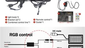 4×6 Led Headlight Wiring Diagram Automotive Led Lighting Dot 7 Rectangle Led Headlamp 45w Rgb 4×6 Led Headlights for Trucks