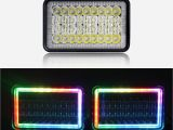 4×6 Led Headlight Wiring Diagram Hot Item Square Vehicle Lights Multi Color Changing High Low Beam 1002r Auto 4×6 Led Rgb Headlight