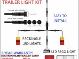 5 Way Trailer Connector Wiring Diagram 6×4 Trailer Led Wire Kit Easy to Install Plug and Play Wiring Rectangle Easy