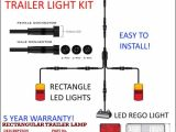 5 Wire Trailer Plug Wiring Diagram 6×4 Trailer Led Wire Kit Easy to Install Plug and Play Wiring Rectangle Easy Roadvision