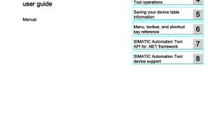 6es7131 6bh00 0ba0 Wiring Diagram Simatic Automation tool V3 0 User Guide Manualzz Com