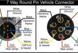 7 Round Plug Wiring Diagram Wiring Diagram for 7 Way Round Pin Trailer and Vehicle