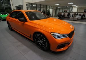 760 Bmw for Sale 2017 Bmw 750i In the Unique and Flashy Fire orange Color Amazing