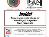 8 Inch Bazooka Tube Wiring Diagram Details Zu Mmats Pro P2 5 12 Subwoofer Speaker Foam Edge Repair Kit Pair