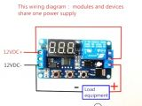 8 Relay Module Wiring Diagram the Timer Switch Delay with Relay Programmable 12v Arduino