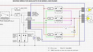 80 Series Headlight Wiring Diagram Wiring Diagram to Install Headlight Upgrade 60 80