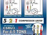 Ac Hard Start Kit Wiring Diagram 5 2 1 Csru2 Compressor Saver for 3 12 to 5 ton Units