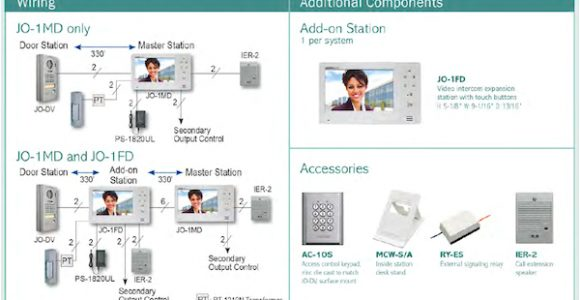 AiPhone Jo Series Wiring Diagram AiPhone Jos 1v Video Door Entry Inter System Line