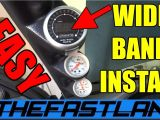 Air Fuel Ratio Gauge Wiring Diagram Wideband Installation How to Youtube