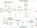Amp and Capacitor Wiring Diagram Electric Fish Finder Circuit Schematic In Autodesk Eagle